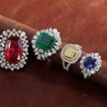 FINE RINGS IN RUBY , EMERALD , DIAMIND AND BLUE SAPPHIRE