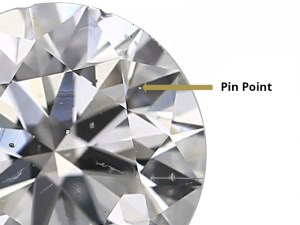 Pinpoint Inclusions in Diamond