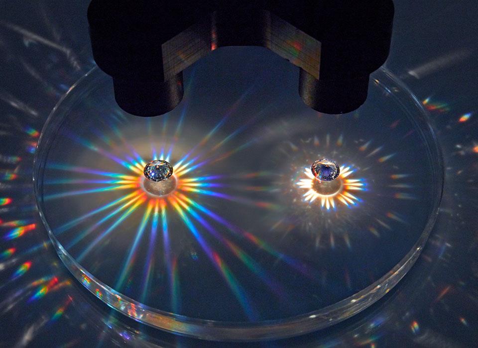Sparkle Test for Diamonds