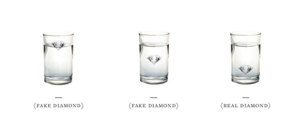 Diamond Test in Water