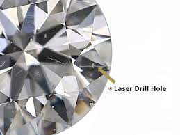Laser Lines Inclusions in Diamonds