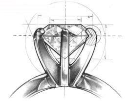 Diamond Ring Prong Schematic