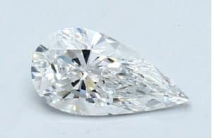 Pear Shape Diamond L/W Ratio of 1.89