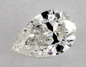 Bowtie Defect Pear Shape Diamond