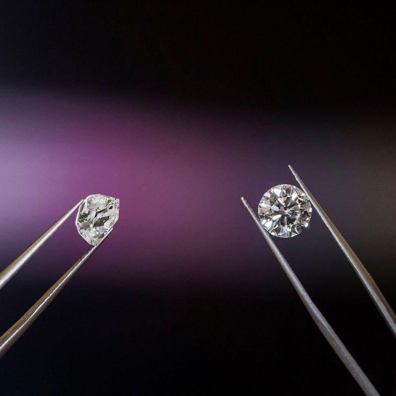 natural synthetic lab diamond