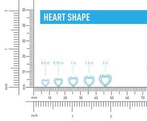 Heart Shaped Diamond Size Chart