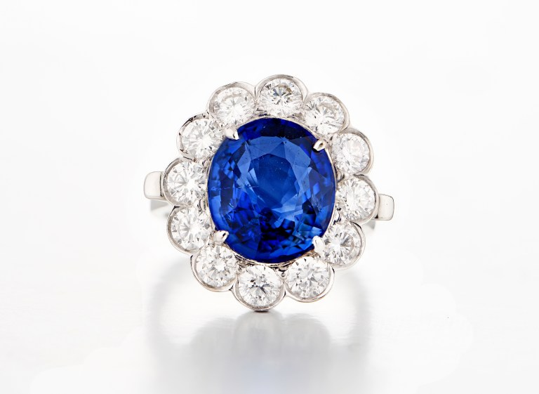 Deep Blue Sapphire Ring by Kanjimull