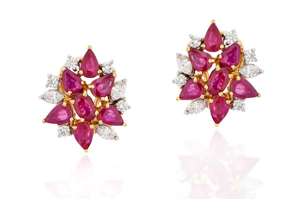 Diamond Ruby Earclip