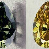 A 'Chameleon' diamond photographed by Tino Hammid